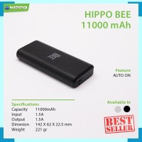 Hippo Power Bank Bee 11000 mAh Auto ON - Black