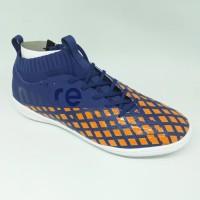 Sepatu futsal / putsal footsal mitre original Invader IN navy/orange