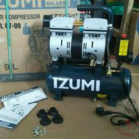 "Kompresor angin listrik silent oilless ""3/4 hp"" Izumi OL07-09 Japan"