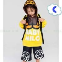 SETELAN BAJU ANAK HELLOMINI HM 40 B BABY MILO | pakaian anak import