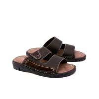 Sandal Pria Bagus Murah G5 Sendal Cowok Ori - Sandal Bata Coklat Laki
