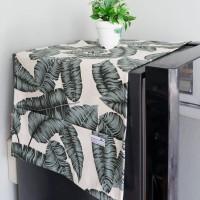 Cover Kulkas / Sarung Kulkas - Green Leaf