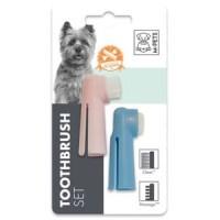 Sikat gigi anjing MPETS Fingertooth brush set 2pcs