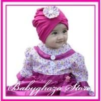 Grosir!!! Baju Pesta Anak Muslim Perempuan 6bln-1thn Dress Pink