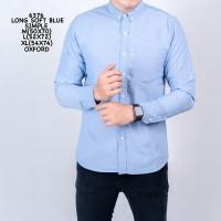 kemeja polos biru muda lengan panjang / baju kemeja pria / baju cowo