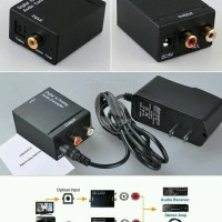 Digital Optic Fiber to Analog RCA Audio Converter Toslink
