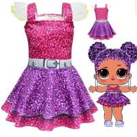 LOL Surprise Doll Kostum Anak Ulang Tahun Dress Baju