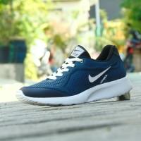 Sepatu Sport Nike Airmax Running men / Biru Navy / Gym Lari Santai