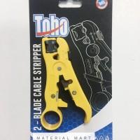 Tang Kupas Kabel Toho ORI Cable Stripper 2 Blade Coaxial RG59 RG 6 RG