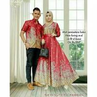 Batik Couple Semi Sutra Rabbani Batik cantik rok lilit|Batik Modern