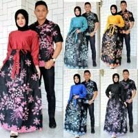 Srimbit Gamis Anggrek Batik Couple RnB Batik cantik rok lilit