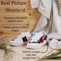 [BEST BUY] Sepatu Kets Wanita Sol putih model Gucci motif bunga