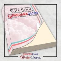 NOTEBOOK SOFTCOVER Isi BOOK PAPER / HVS Uk. A4 (21x29,7cm) BISA CUSTOM