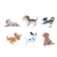 6pcs pajangan anjing & kucing dog cat Miniatur dekorasi mobil patung