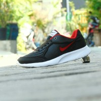 Sepatu Sport Nike Airmax Running Men - Hitam Merah - Casual Kuliah