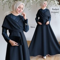 Long Dress baju pesta muslim gamis hijab brukat miranda ORIGINAL