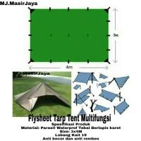 Tarp Tent Flysheet 3x4M 19 Lobang Kait Waterproff Berlapis Karet
