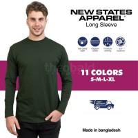 New States Apparel Premium Cotton Long Sleeve 7280 (COLOR, SIZE S-XL)