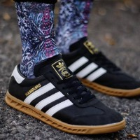 sepatu Adidas Hamburg Black Gum Semi Premium