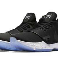 Sepatu Basket Nike Paul George 1 Black White Premium Original