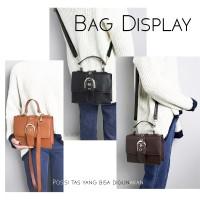 Tas Selempang Wanita / Sling bag Mini Impor Korean Style - Hitam
