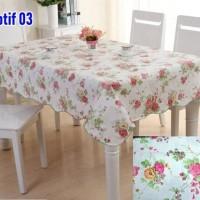 SQUARE Peva Taplak Meja anti Air-Taplak Meja Plastik dengan Backing
