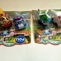 Mainan Robocar Poli 1 set 2 pcs Pull Back