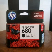 HP 680 Black/Colour Catridge Printer Tinta 100% Original