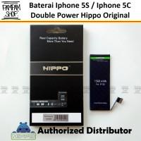Baterai Hippo Double Power Original Apple Iphone 5S 5C Batre Batrai