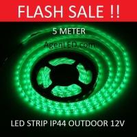 Lampu LED STRIP 3528 SMD 2835 IP44 IP 44 Green outdoor ledstrip HIJAU