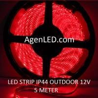 Lampu LED STRIP 3528 SMD 2835 IP44 IP 44 Red outdoor ledstrip MERAH