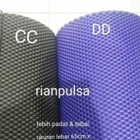 Anti slip tebal dash mat karpet matras anti slip busa gym yoga selip - HITAM 50CMx65CM