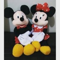 boneka Mickey & Minnie Mouse ukuran M (2pcs) TERBARU