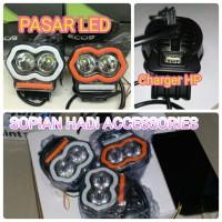 Lampu Tembak Sorot Gojek Grab Slot USB Charger HP