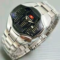 Promo jam tangan pria/cowok swiss army rantai premium simple Limited