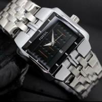 Dijual jam tangan pria/cowok fossil rantai premium # ratu gros Murah