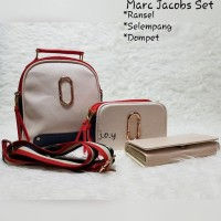Termurah Tas Murah/Tas Wanita/Tas Paket/Slingbag/Marc Jacob Set3In1