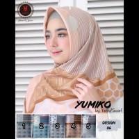 Segi Empat Yumiko Stripe Line. Jilbab Yeffa. Kerudung Segi4.Hijab Silk