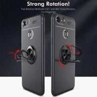 Case Autofocus Softcase Magnetic Ring Oppo F7 F9 F5 Casing