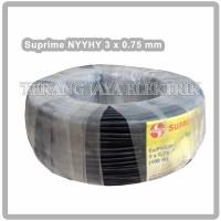 Kabel listrik 3 x 0,75 Serabut NYYHY Hitam Supreme per Meter