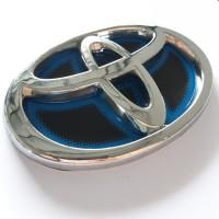Emblem Toyota Mobil Blue Biru Hybrid 1pc