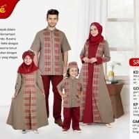Busana Muslim Sarimbit Keke SR 17186 Warna Coklat Gamis Anak size No.0