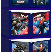 Rak Lemari Cabinet Plastik Napolly Superman Batman Susun 3