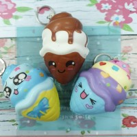 Squishy Murah Mini Kawaii Emoticon Ice cream Cone