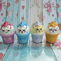 Squishy Murah Mini Cute Emoticon Ice Cream Pot
