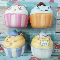 Squishy Murah Mini Cute Emoticon Cup Cake Cream