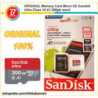 ORIGINAL Memory Card Micro SD Sandisk Ultra Class 10 A1 200gb Resmi
