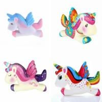 Squishy Unicorn Kuda Terbang Model Terbaru Soft dan Slow / Mainan Anak