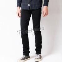 Celana Jeans Panjang Cowok Skinny / Pensil Pria Bahan Stretch / Karet - Hitam, 28