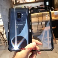 Case Magnet Anti Baret Cover Metal Samsung Galaxy S9 Plus S9plus S9+ - Hitam